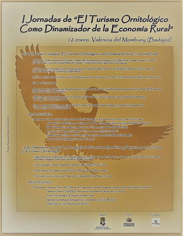 I Congreso Nacional de Turismo Ornitológico en Valencia del Mombuey. Participantes