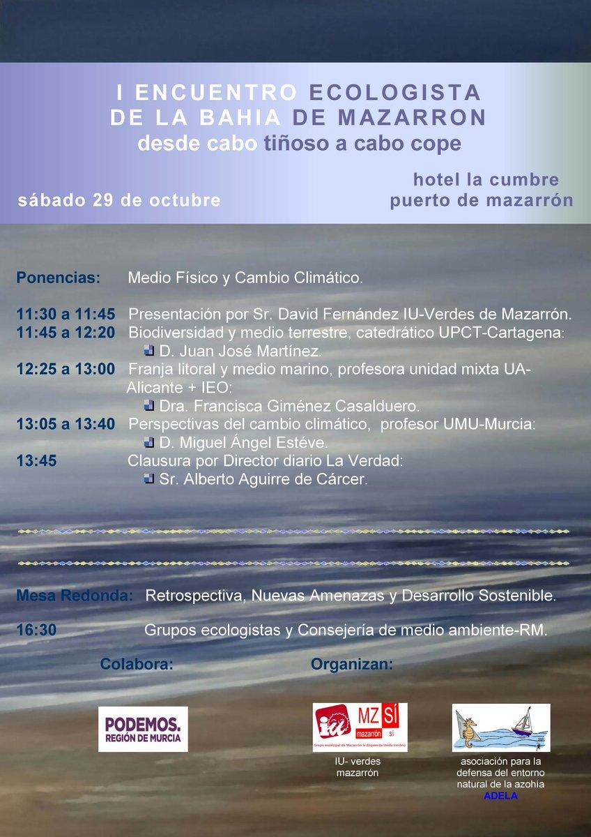 Cartel del I Encuentro Ecologista de la Bahía de Mazarrón