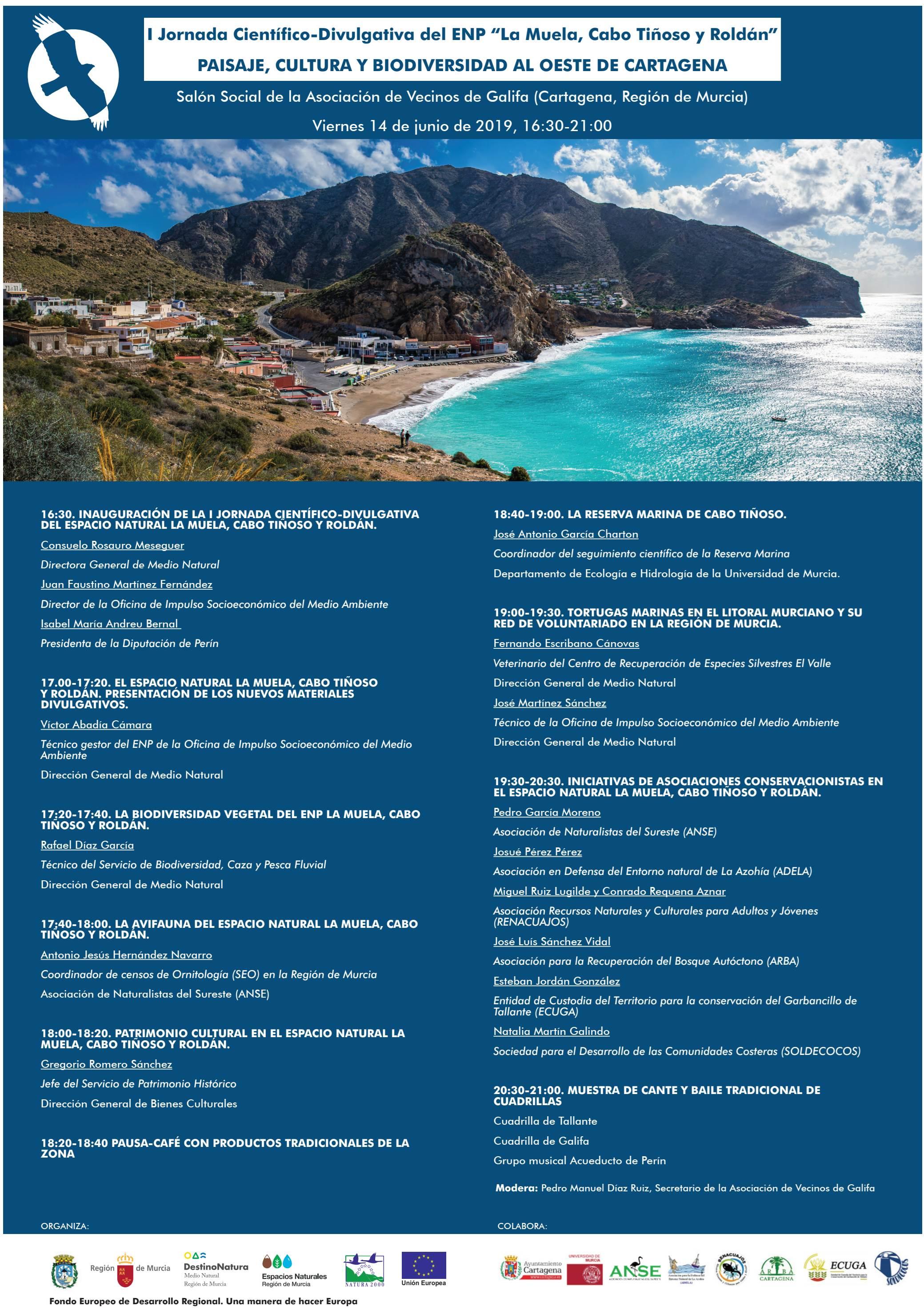 I Jornada Científico-Divulgativa del ENP La Muela, Cabo Tiñoso y Roldán