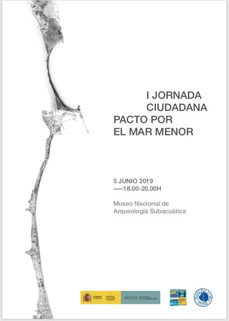Cartel de la I Jornada ciudadana Pacto por el Mar Menor