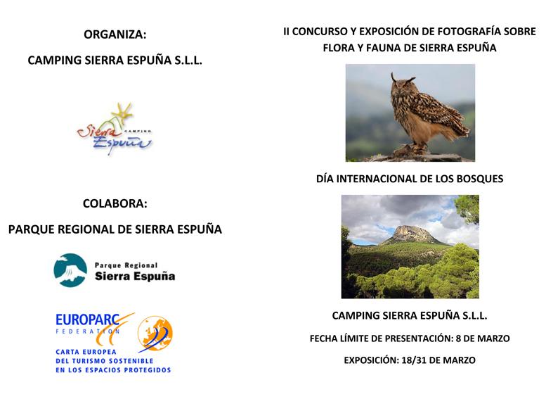 Concurso de fotografía sobre Sierra Espuña, con Camping de El Berro
