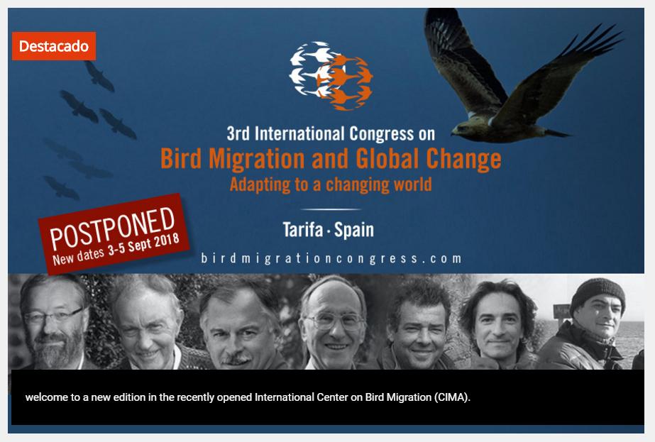 III Congreso sobre Migración de Aves y Cambio Global, con la Fundación Migres