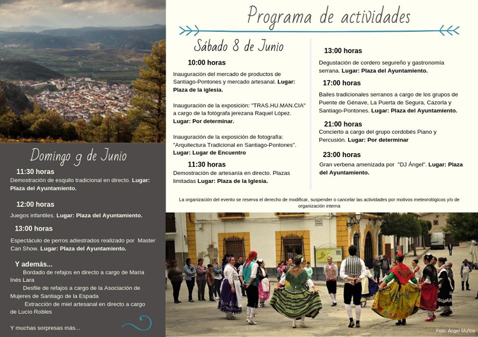 Programa de la III Feria de la Trashumancia, Turismo y Costumbres de Santiago-Pontones