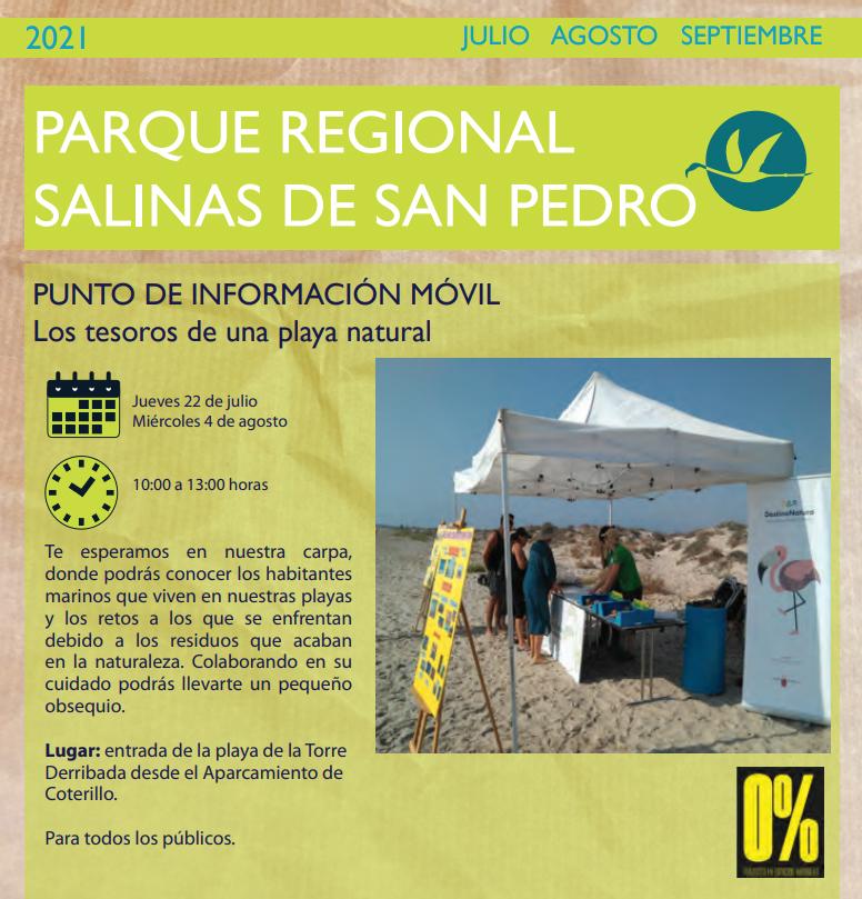 Info sobre los animales marinos del PR de San Pedro del Pinatar 1, con la CARM