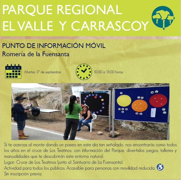 Punto Informativo Medioambiental en la Romería de La Fuensanta, con la CARM