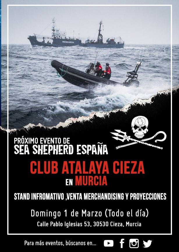 Stand informativo sobre Sea Shepherd España