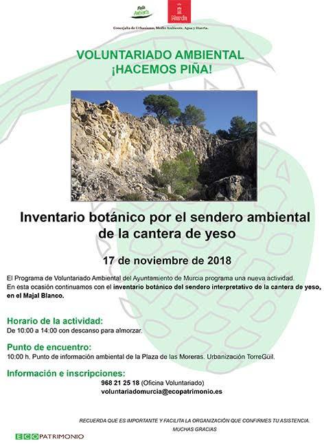 Itinerario botánico, con el Ayto. de Murcia