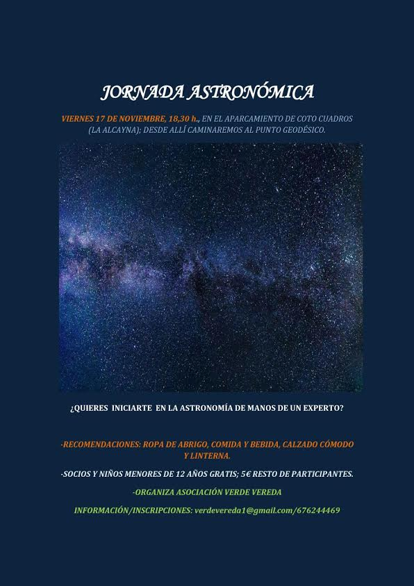 Jornada Astronómica, con Verde Vereda
