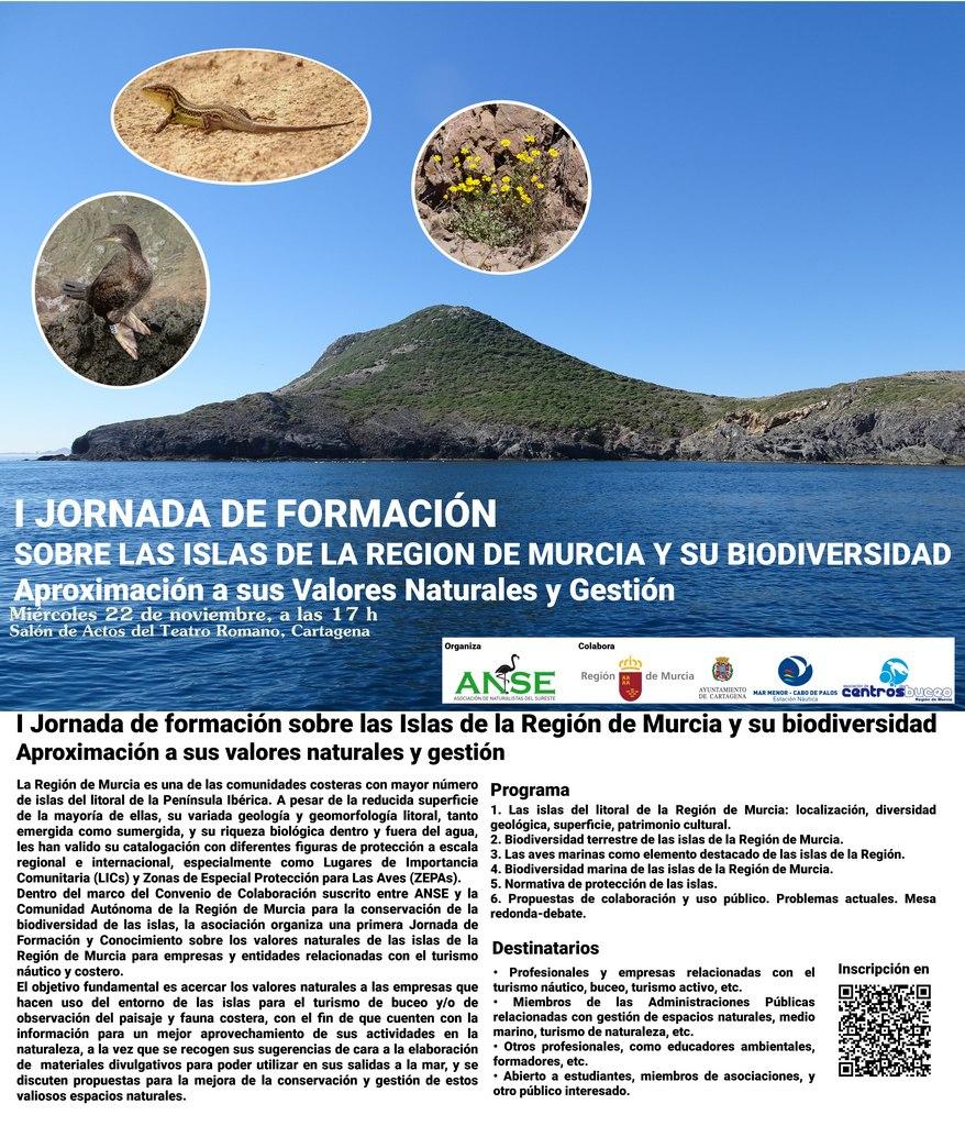 I Jornada de formación sobre las Islas de la Región de Murcia y su biodiversidad, con ANSE