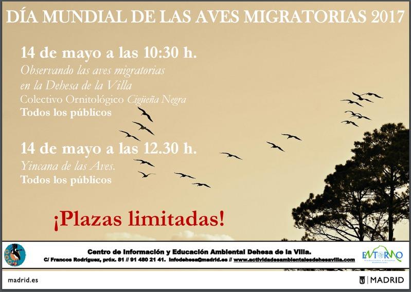 Jornada de migración de las aves en Madrid, con COCN