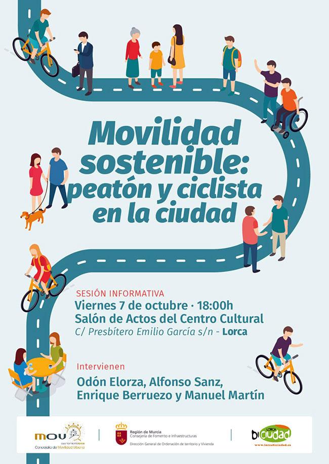 Jornada nacional sobre Movilidad Sostenible en Loca. Cartel.