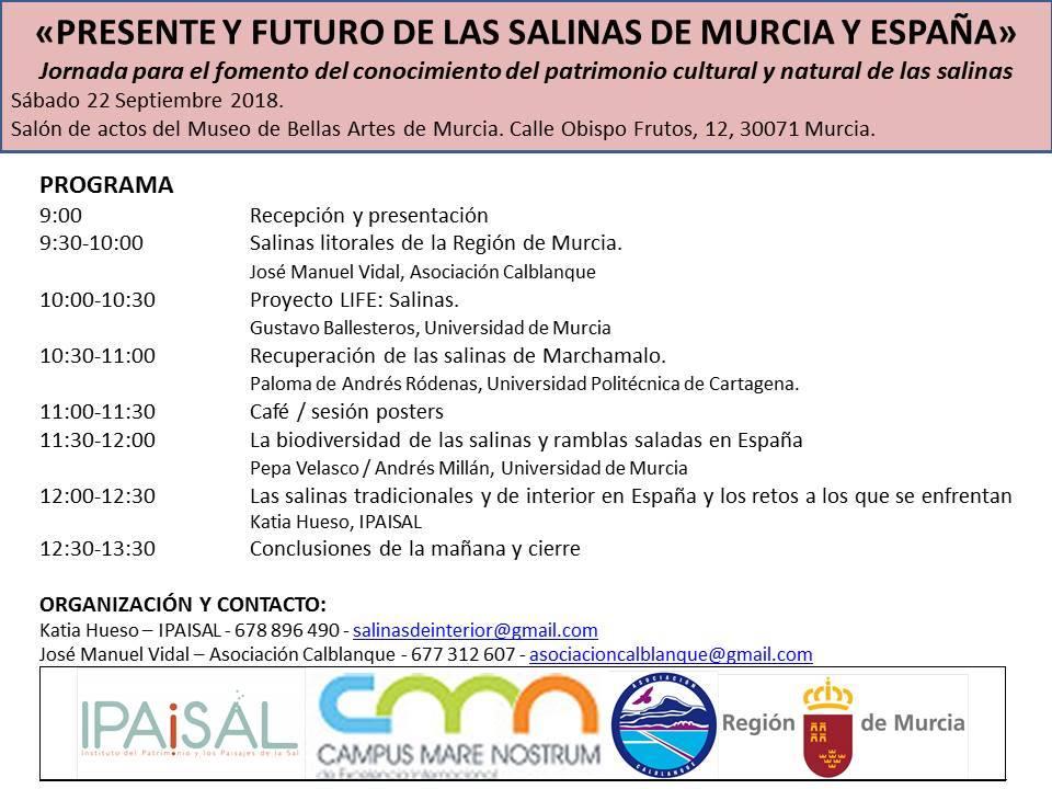 Jornada sobre salinas de Murcia y España, con la Asociación Calblanque