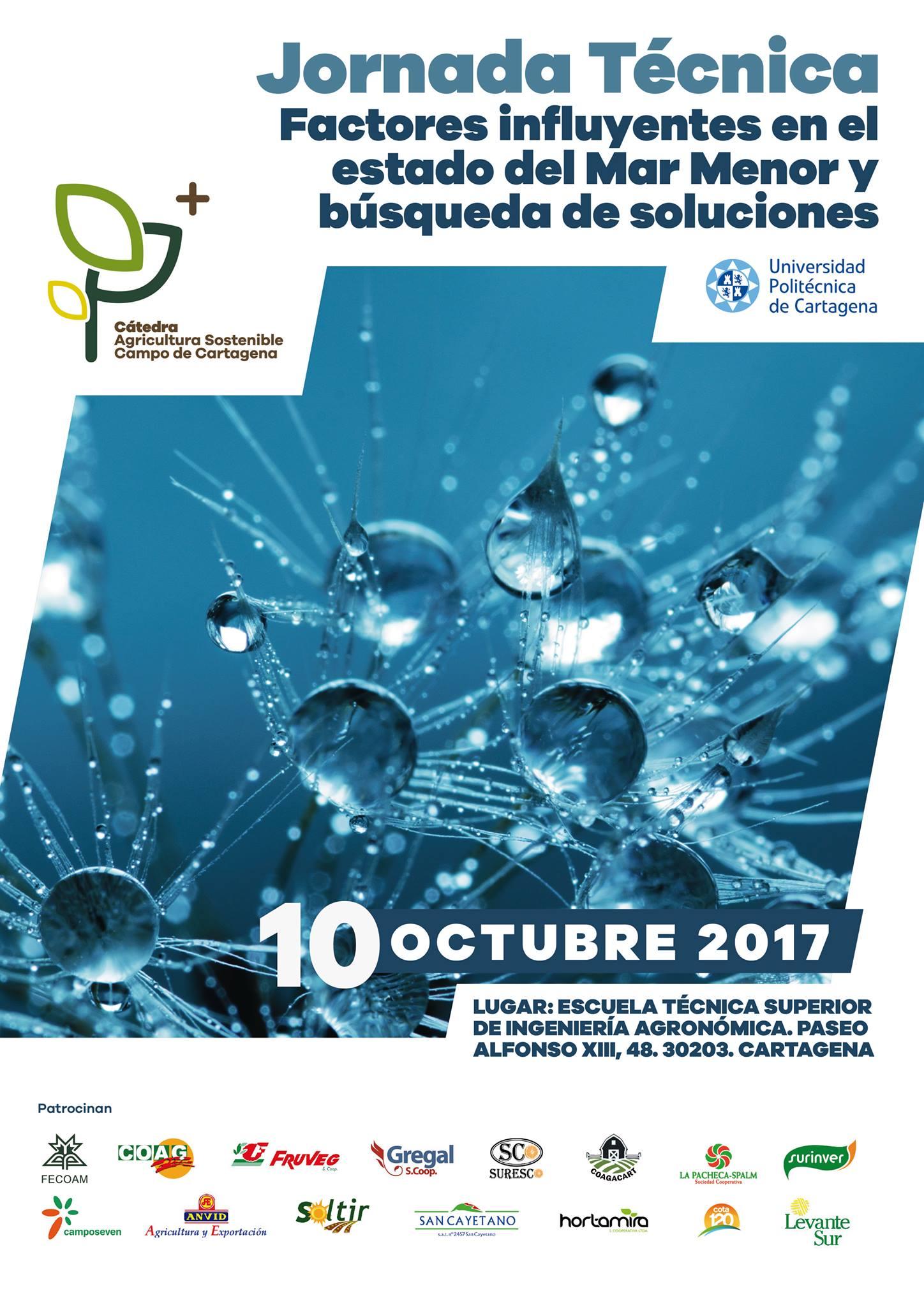 Jornada técnica: Factores influyentes en el estado del Mar Menor, con la Cátedra Agricultura Sostenible
