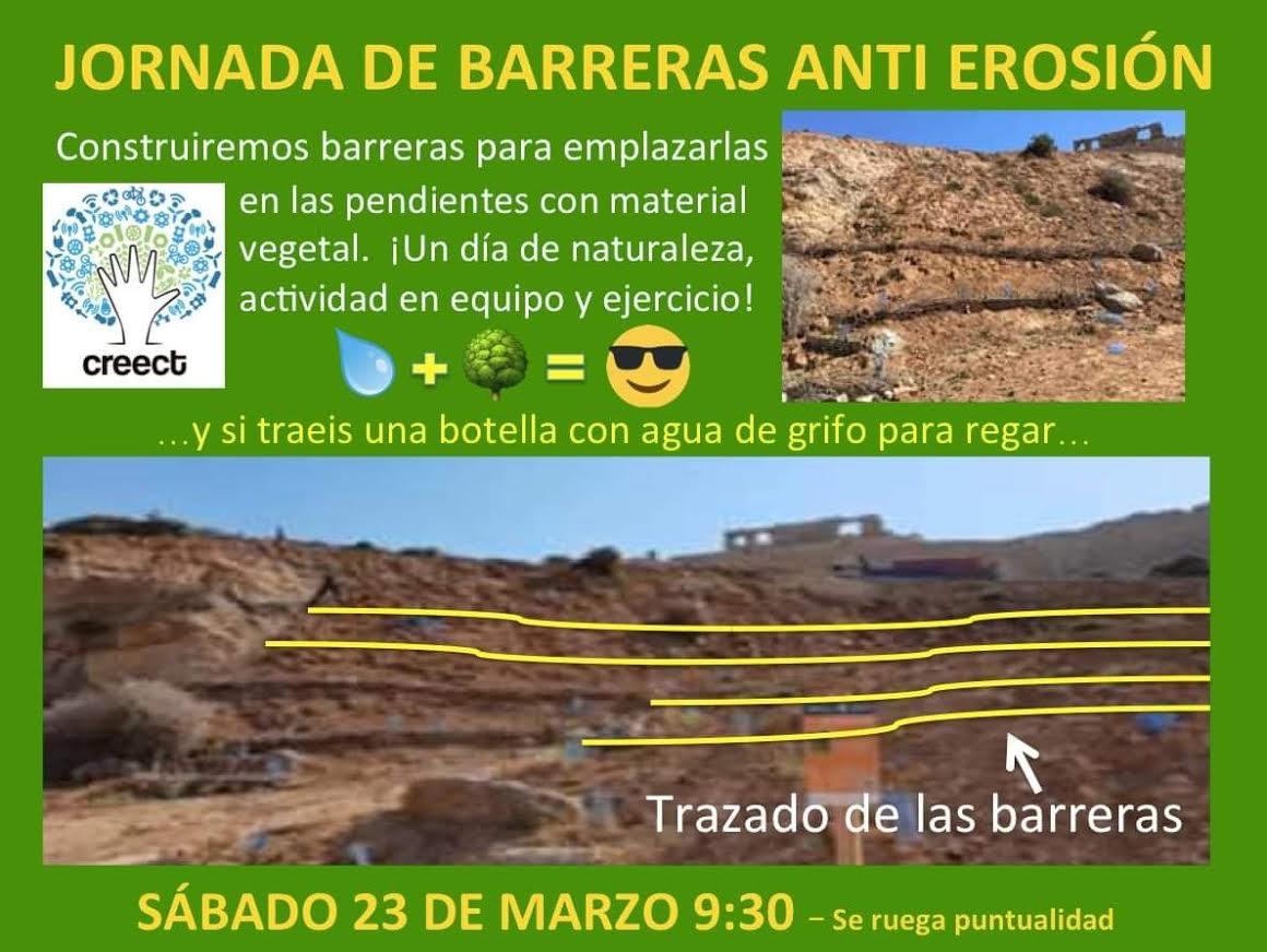 Creación de barreras de erosión, con CreeCT
