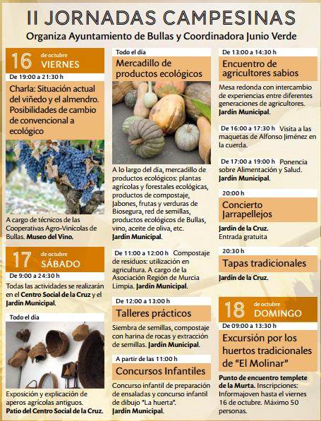 II Jornadas Campesinas con Junio Verde. Programa