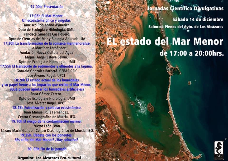 Jornadas Científico Divulgativas 'El estado del Mar Menor', con LAEC