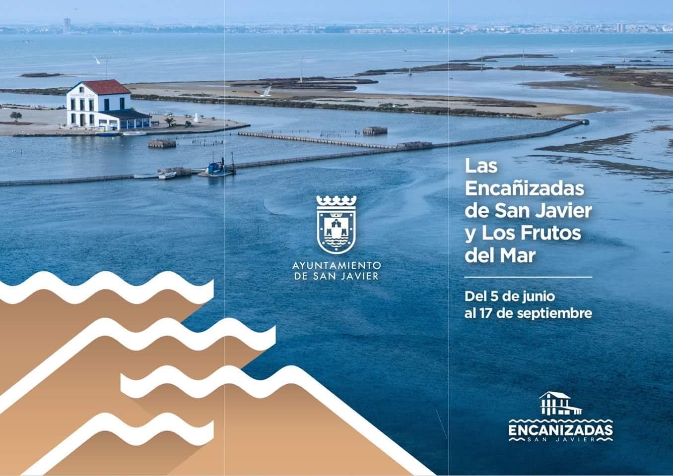 Cartel de las Jornadas 'Las Encañizadas de San Javier y los frutos del mar', con el Ayto. de San Javier