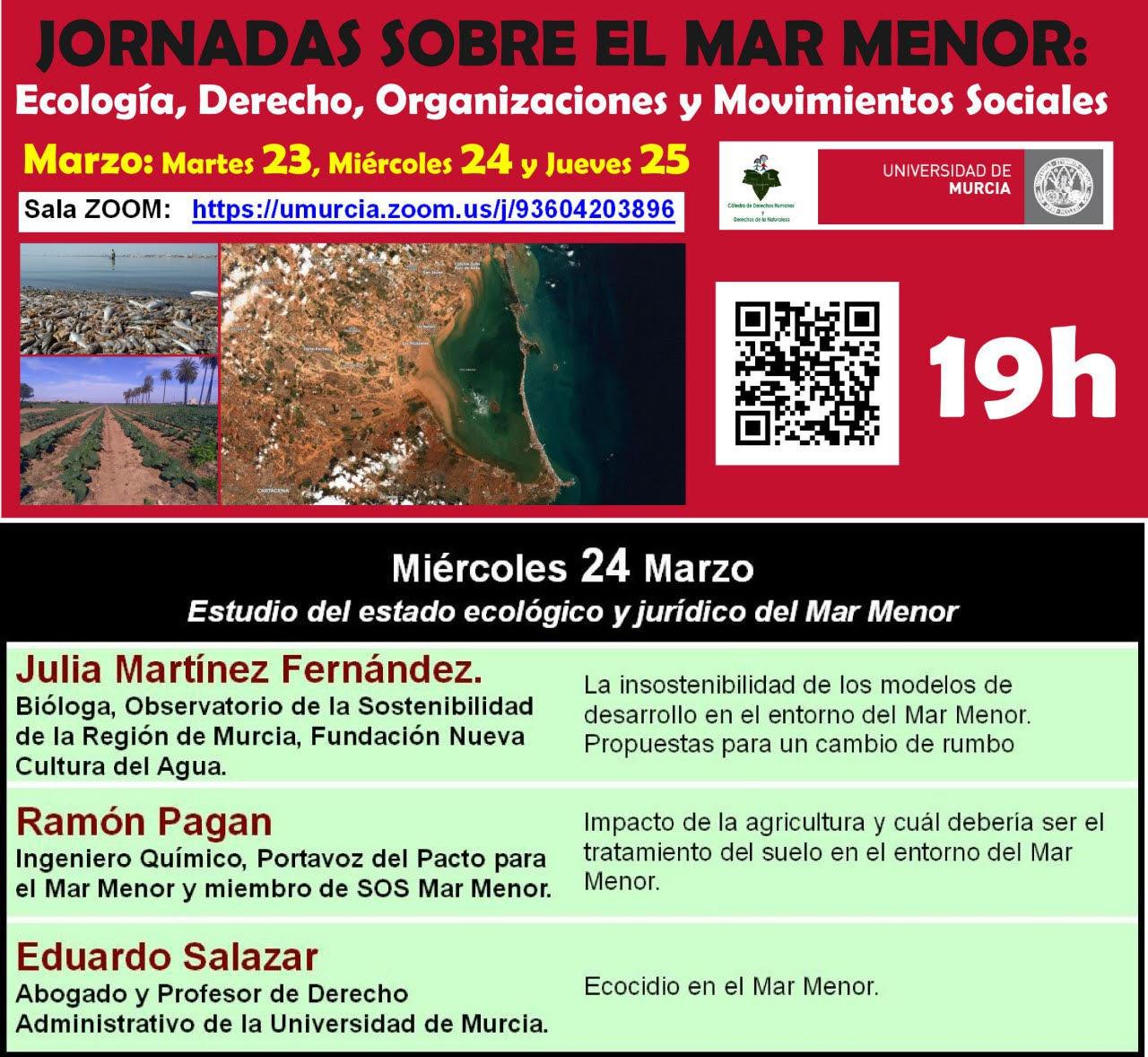 Jornadas sobre el Mar Menor: Ecología, Derecho, Organizaciones y Molvimientos Sociales, con la UMU