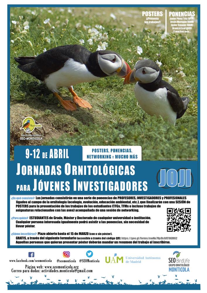 Jornadas Ornitológicas para Jóvenes Investigadores, con Seo-Monticola