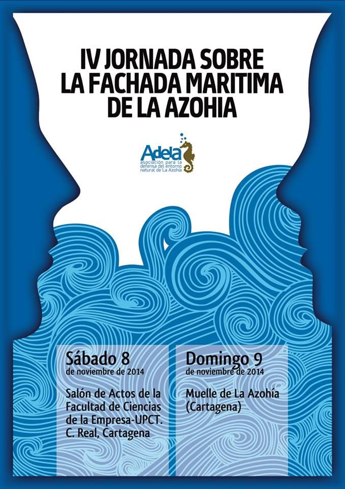Cartel de la IV Jornada sobre la Fachada Marítima de La Azohía