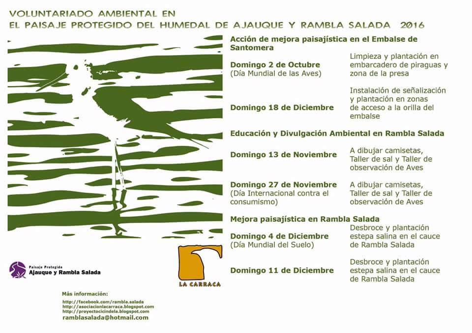 Mejora paisajística en Rambla Salada, con La Carraca.