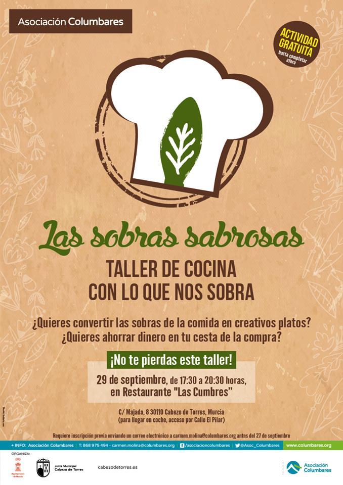 Taller de cocina Las sobras sabrosas, con Asociación Columbares