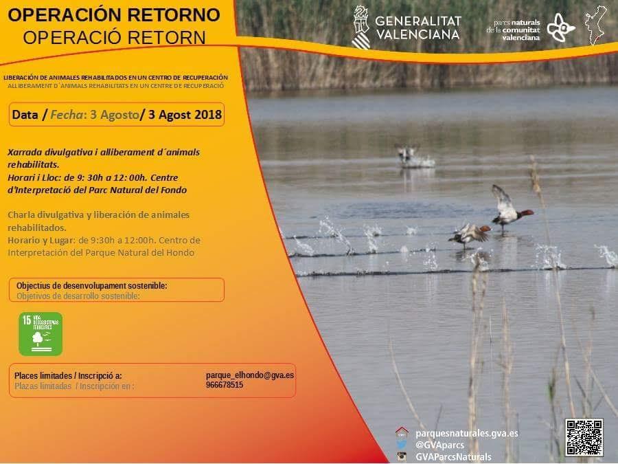 Liberación de animales recuperados, con la Generalitat Valenciana