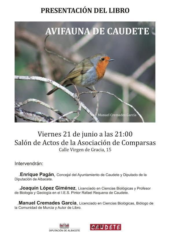 Presentación del libro 'Avifauna de Caudete', con la Diputación de Albacete