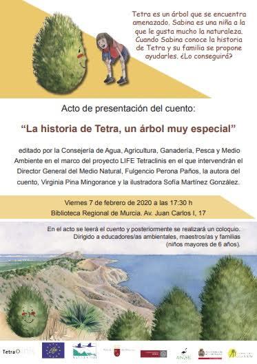 Presentación de un cuento sobre el ciprés de Cartagena, con el LIFE Tetraclinis