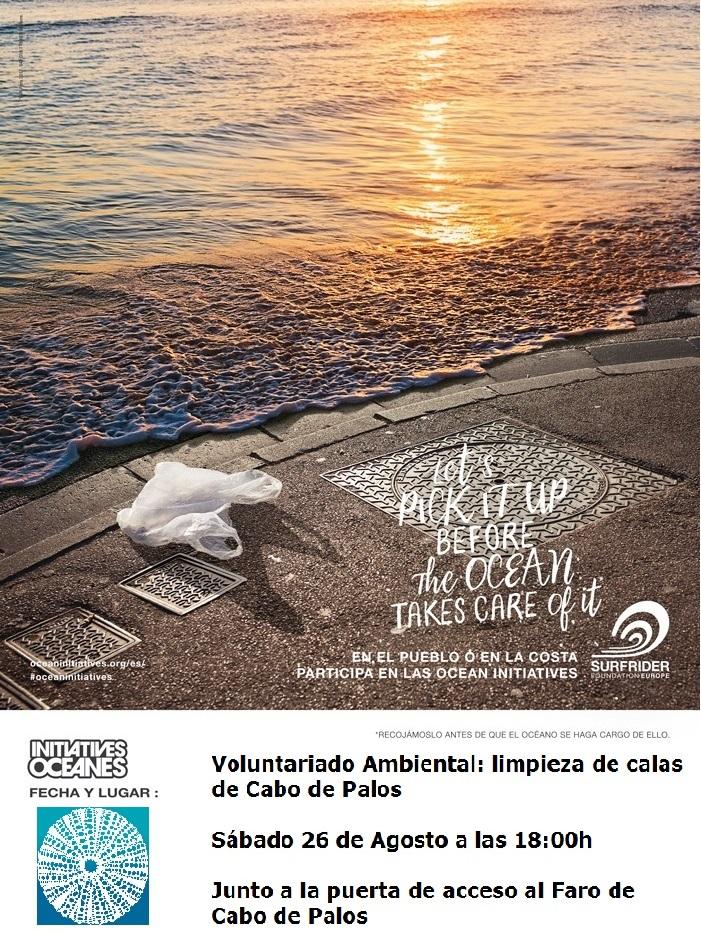 Recogida de basuras en el faro de Cabo de Palos, con Surfrider Foundation Europe y Procabo