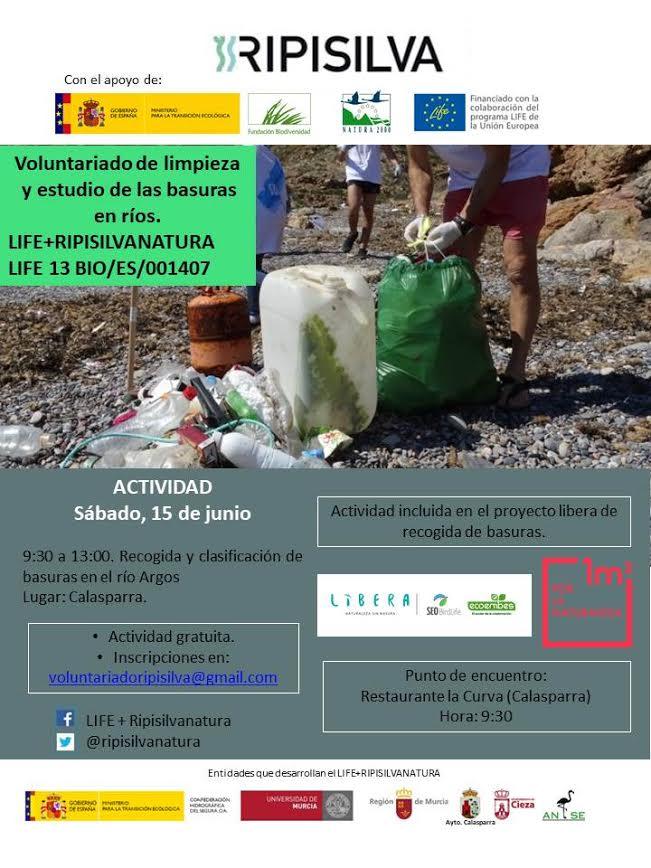 Limpieza y estudio de basuras en ríos, con LIFE Ripisilva