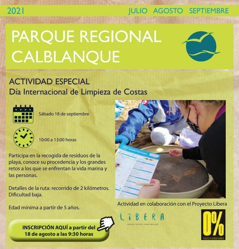Día Internacional de Limpieza de Costas, con la CARM