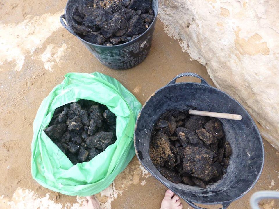 Limpieza de galipote en playa Amoladeras, con Procabo
