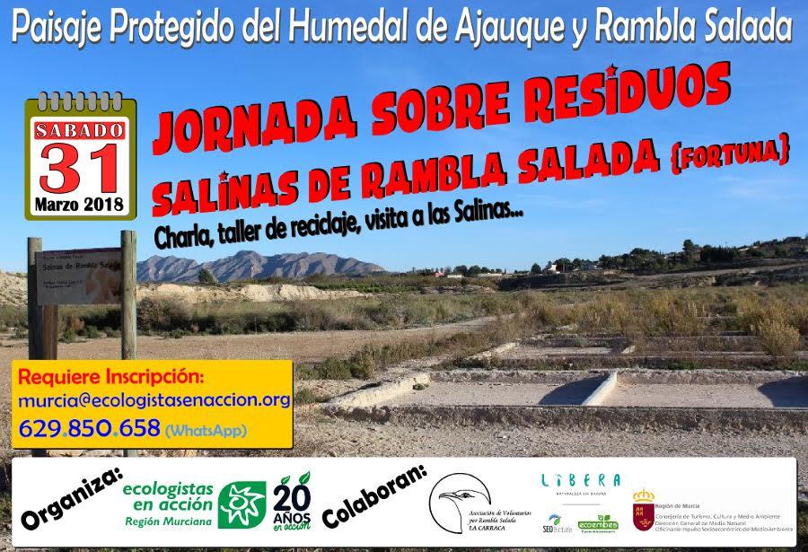 Jornada sobre residuos en las Salinas de Rambla Salada, con EEA