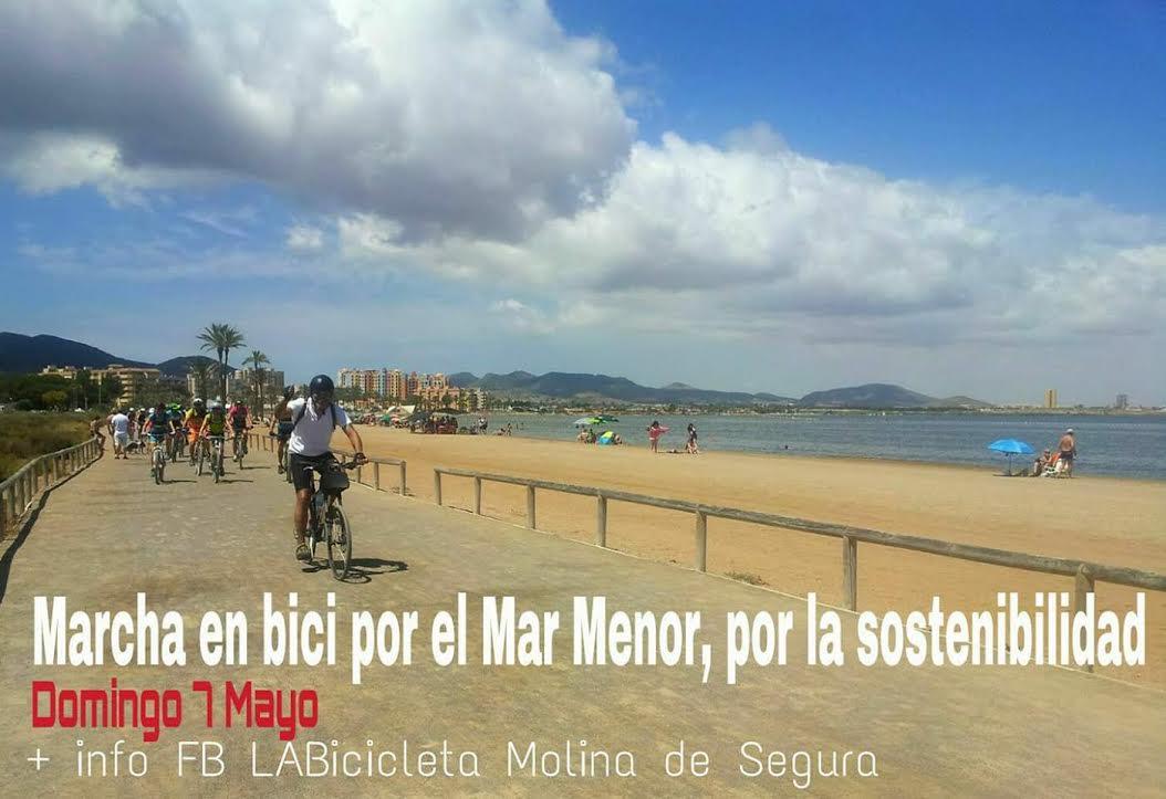 Cartel de la III Marcha en bici por el Mar Menor, con LABicicleta