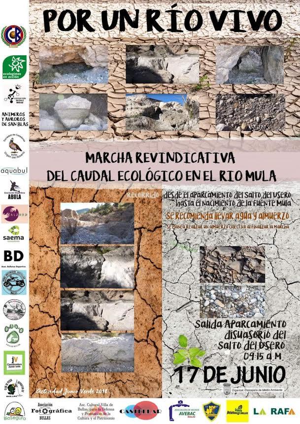 Marcha por el caudal ecológico del río Mula