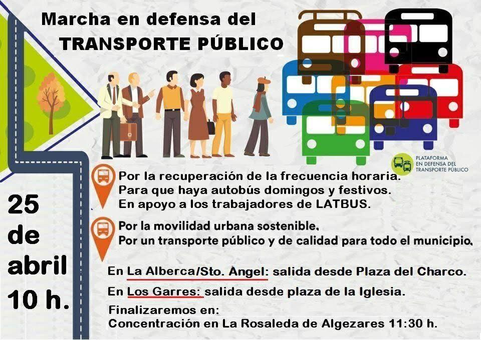 Marcha en defensa del transporte público, con Plataforma en Defensa del Transporte Público