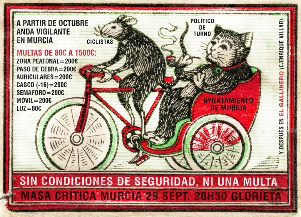 Masa crítica ciclista por la seguridad en bici.