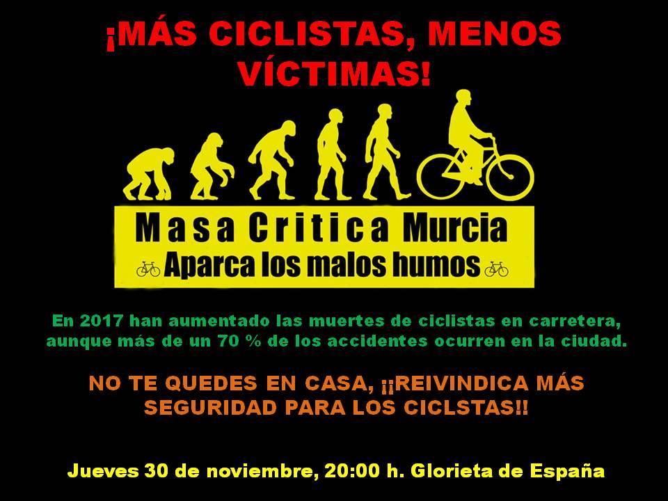 Masa Crítica Ciclista para reclamar más seguridad