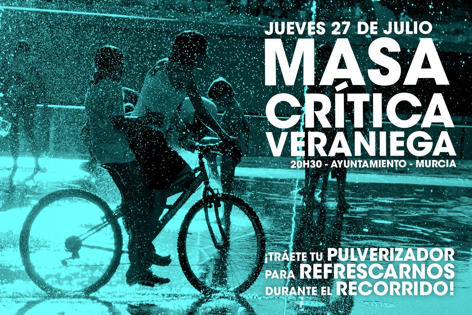 Masa Crítica ciclista veraniega, con Masa Crítica de Murcia