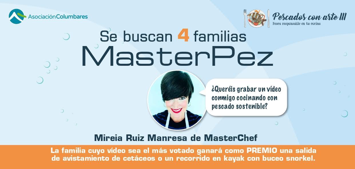 Cartel del concurso de vídeos MasterPez, con Asociación Columbares