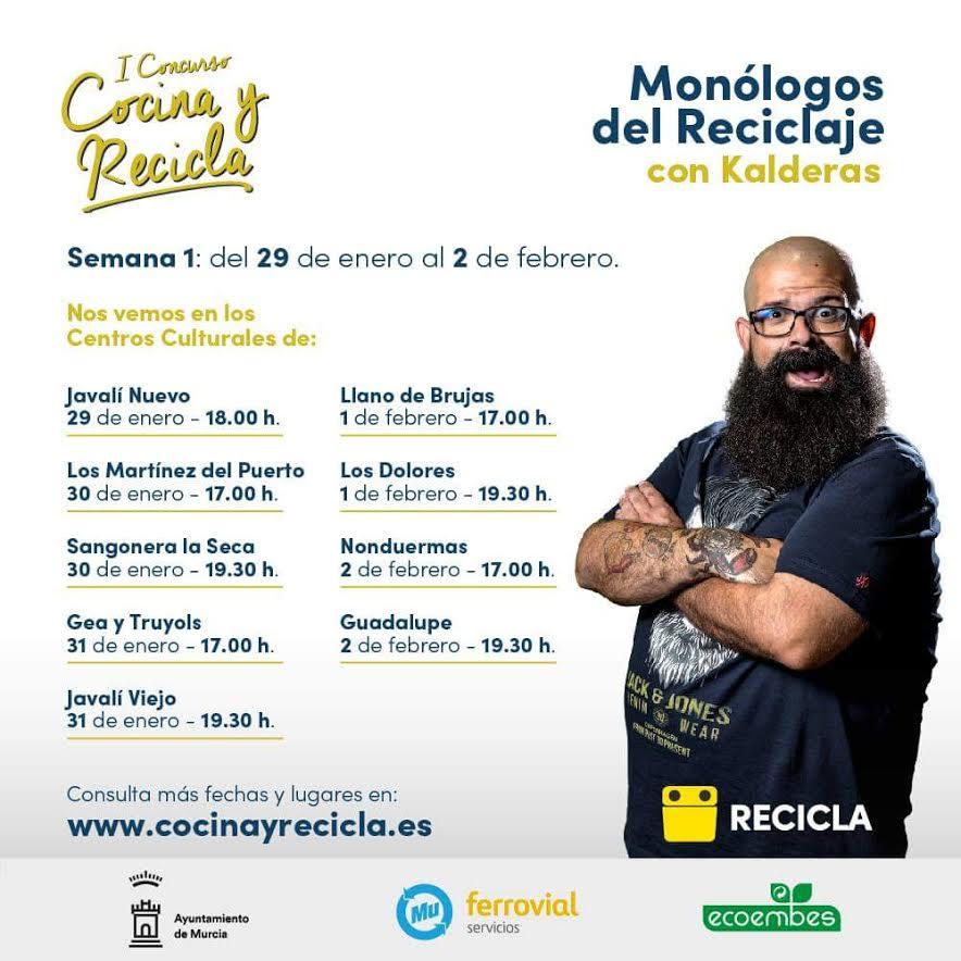 Monólogos del Reciclaje, con el Ayto. de Murcia