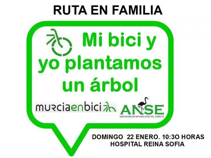 Ruta en bici y plantación de árboles, con Murcia en Bici y ANSE