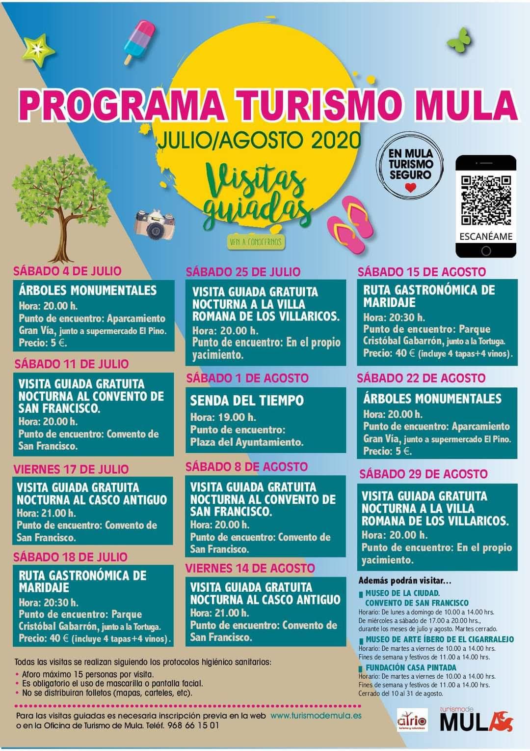 Programa Turismo Mula julio-agosto 2020