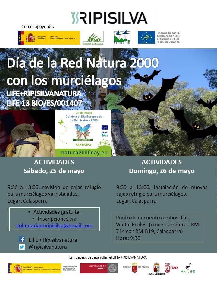 Día de la Red Natura 2000 con los murciélagos, con Ripisilvanatura
