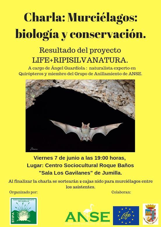 Charla 'Murciélagos: biología y conservación', con Stipa