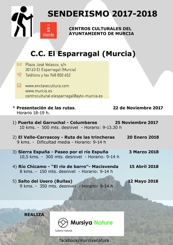 Programa de actividades de senderismo del C.C. El Esparragal