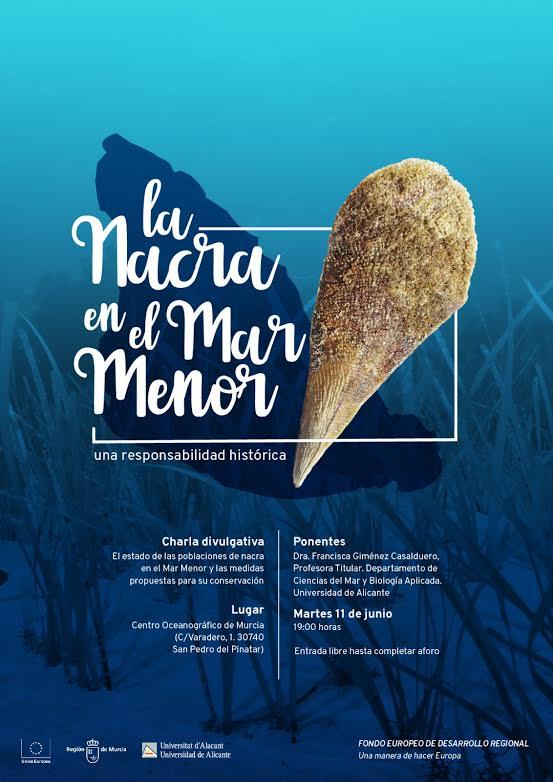 Charla sobre la nacra en el Mar Menor, con la Universidad de Alicante