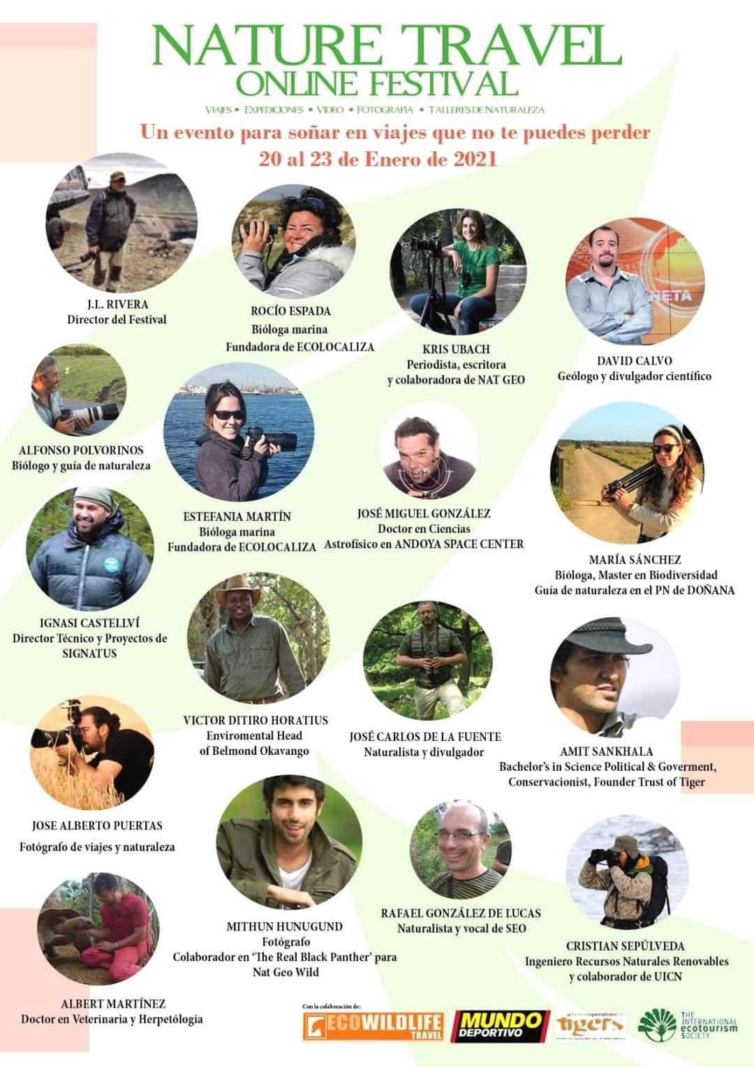Nature Travel Online Festival, ponentes