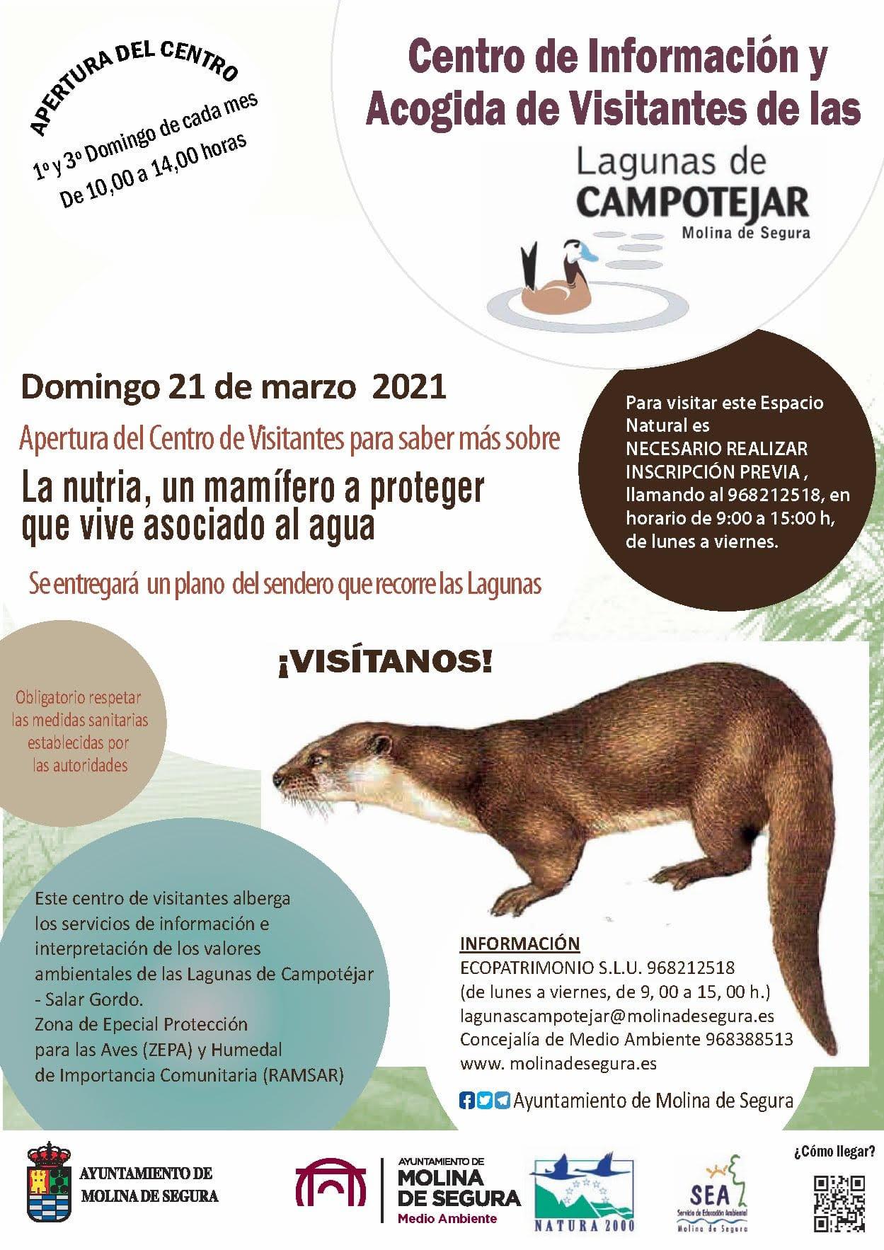 Día dedicado a la nutria en Campotéjar, con el Ayto. de Molina de Segura